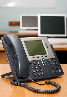 Typical office VoIP phone